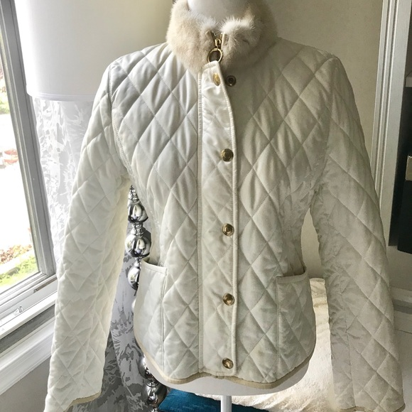 Coach Jackets & Blazers - NWOT Coach quilted jacket w fur collar